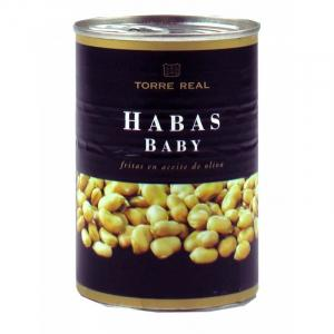 Habas Baby Fritas en Aceite Oliva Torre Real 420g