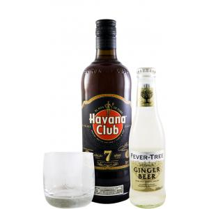 Havana Club 7 Year old W Glass + Ginger Beer Fever Tree