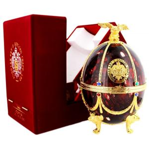 Imperial Collection Vodka Faberge Egg Bordeaux Red