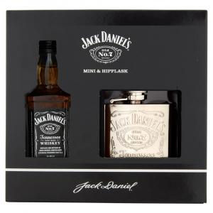 Jack Daniel's Whiskey & Hip Flask Gift Set