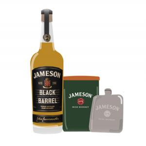 Kit Jameson Black Barrel + Flask