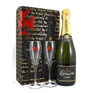 Lanson Black Label Brut con 2 Copas