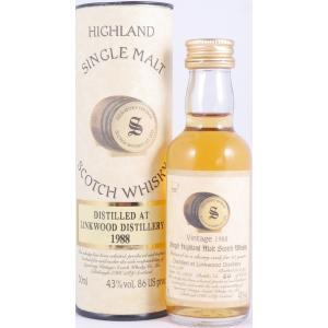 1988 Linkwood 10 Years Sherry Cask No. 2872 Miniature Highland Single Malt Signatory Vintage 50ml