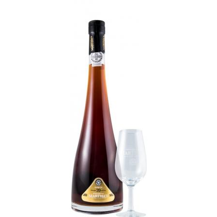 Martha's 20 Years Decanter W Glass 50cl
