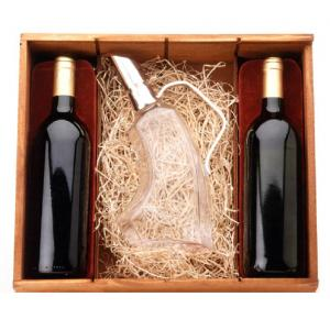 Merlot Kit Wood Box voor 2 flessen