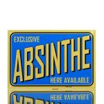 Metal Plaque Absinthe Blue