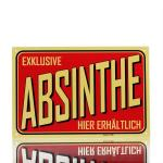 Metal Plaque Absinthe Red