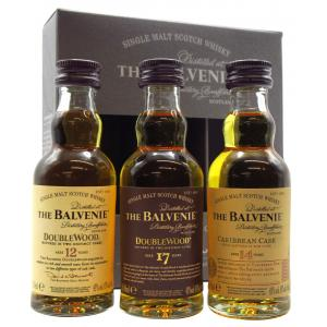 Mini Balvenie Tasting Collection 3 X S 12 & 17 Doublewood & 14 Caribbean