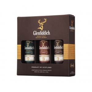Mini Glenfiddich Family Collection 3 X Gift Pack 12 15 & 18 Year old
