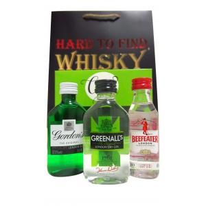 Mini Gordon's Greenall's & Beefeater Gin 3 X Gift Set Hard To Find Edition Gin