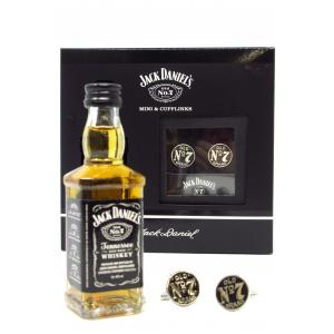 Mini Jack Daniel's & Cufflinks Gift Set Hard To Find Edition