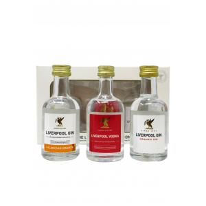 Mini Liverpool Spirits Gin & Vodka Collection 3 X S Gift Pack Gin 50ml