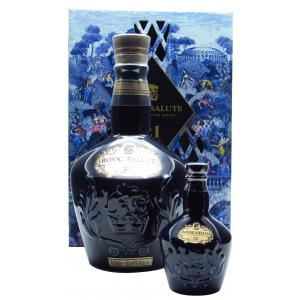 Mini Royal Salute Gift Pack With Sapphire 21 Year old