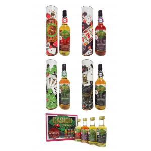 Mini Tobermory All 4 Casino Series Bottles & Free 4 X S Pack 21 Year old 1995