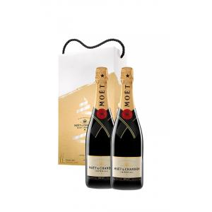 Moët & Chandon 2 X Pack Brut Impérial Estojo 375ml