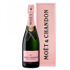 Moet & Chandon Imperial Rose 75cl Personality Metal Gift Case