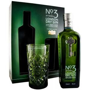 Nº3 London Dry Gin + glass