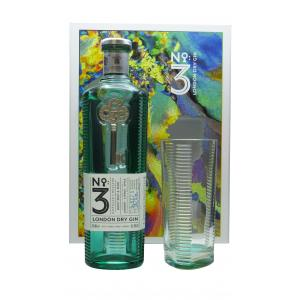 No. 3 London Dry Gin Gift Case With High-Ball Glass Gin