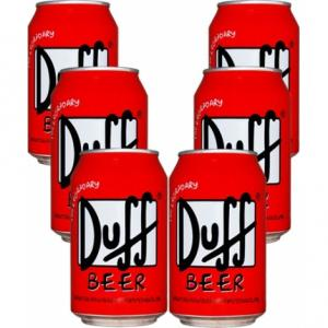 Pack 6 Duff Beer Canette
