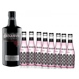 Pack Gin Brockmans + Tónicas Original Pink