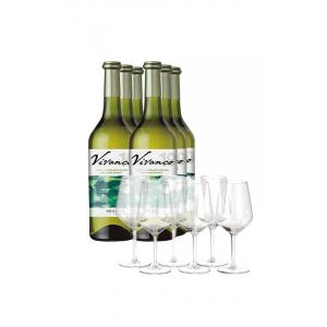 Pack Vivanco Blanco 6 Botellas + 6 Copas de Regalo 2019