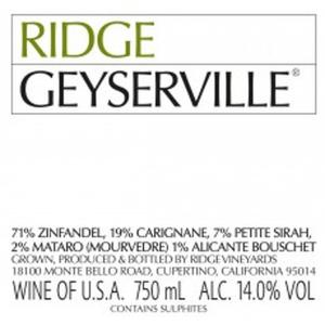 Ridge Vineyards Geyserville Magnum 2014