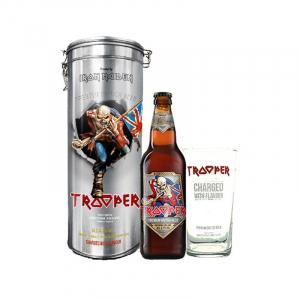 Robinsons Trooper Iron Maiden Metal Tube + 1 Verre 50cl