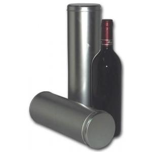 Round Metal Box Colour Silver 8.5 x 31 for wine (Wine Not Included)