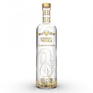 Royal Dragon Imperial With Gold Leaves Vodka