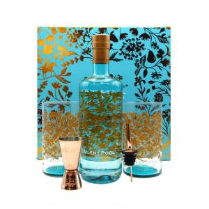 Silent Pool Luxury Presentation Case 2 X Branded Tumblers Jigger Pourer & Silent Pool Gin