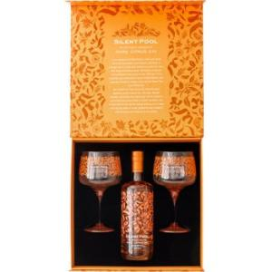 Silent Pool Rare Citrus Gin and 2 Glass Gift Set