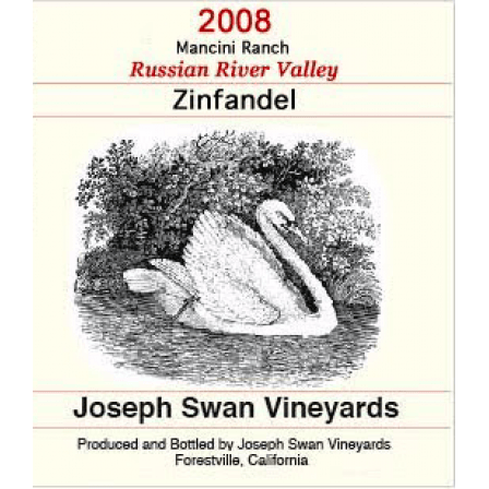 Swan Vineyards Joseph Zinfandel Mancini Ranch Russian River Valley 2012