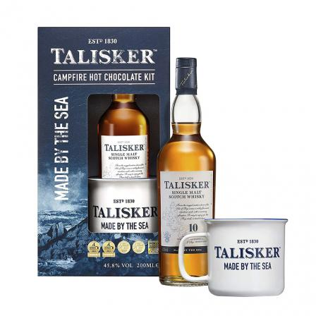 Talisker 10 Years Whisky Campfire Hot Chocolate 20cl Gift Set
