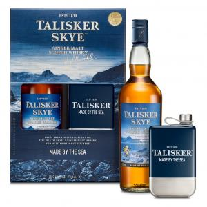 Talisker Skye + Branded Hip Flask Gift Pack