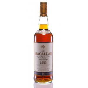 The Macallan 18 Ans Single Malt Highland Old Bottling 1983