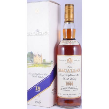 The Macallan 1980 18 År Bottled In Sherry Wood Highland 1999