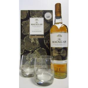 The Macallan Gold & 2 X Glasses Gift Set
