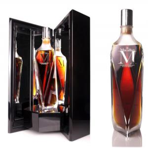 THE Macallan M Lalique Decanter THE 1824 Series Single Highland Malt 75cl