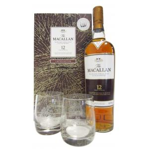 The Macallan Sherry Oak & 2 Glasses Gift Set 12 Años