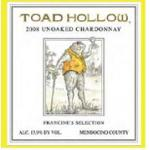Toad Hollow Francine's Selection Unoaked Chardonnay 2008
