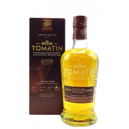 Tomatin French Collection Cognac Cask 12 Year old 2008