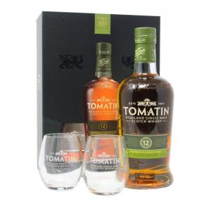 Tomatin & Glass Gift Pack 12 Year old