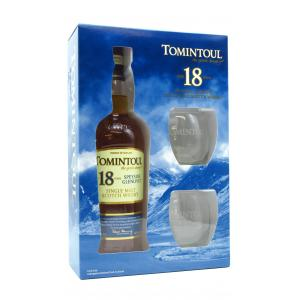 Tomintoul & Glasses Gift Pack 18 Year old