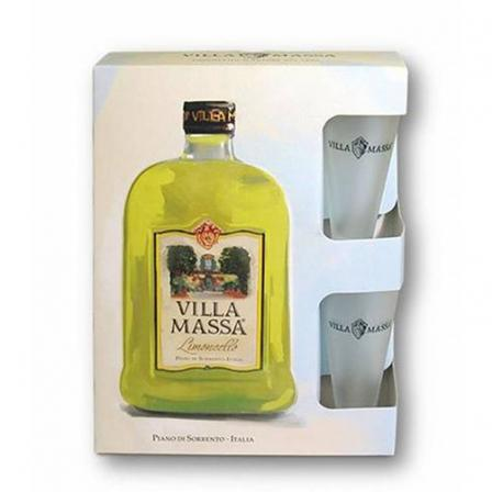 Villa Massa Limoncello + 2 glasses