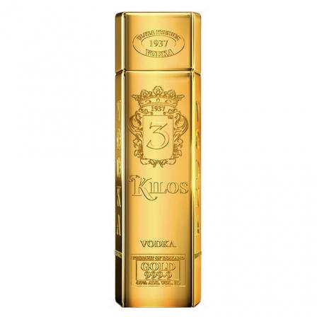 Vodka 3 Kilos Gold 999.9 1L