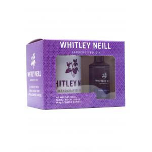 Whitley Neill Gift Pack Scented Candle & Parma Violet Gin 50ml